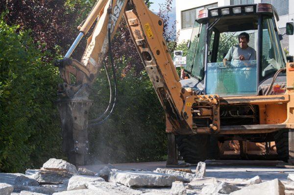 Къртене на дебел бетон
