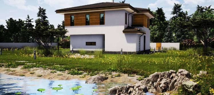 Къща от сглобяема конструкция, дело на evtindom.eu